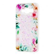 """Чехол для Samsung Galaxy J5 (J500) вода светло-розовый """"цветущие уголки"""""""