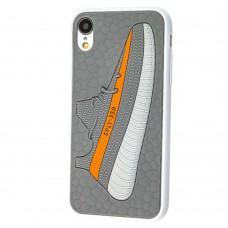 Чехол для iPhone Xr Sneakers Brand yeezy 350 серый