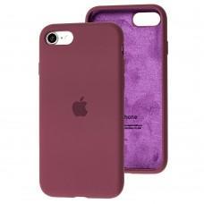 Чехол для iPhone 7 / 8 Silicone Full бордовый / maroon