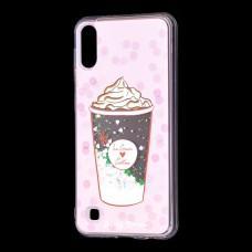 """Чехол для Samsung Galaxy A10 (A105) вода светло-розовый """"мороженое"""""""