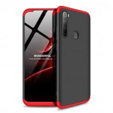 Чехол GKK LikGus для Xiaomi Redmi Note 8T 360 черно-красный