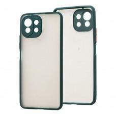 Чехол для Xiaomi Mi 11 Lite LikGus Totu camera protect оливковый