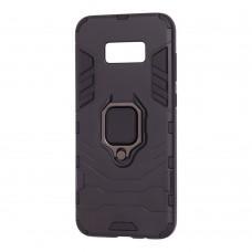Чехол для Samsung Galaxy S8+ (G955) Transformer Ring ударопрочный с кольцом черный
