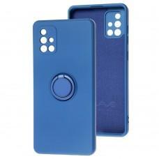 Чехол для Samsung Galaxy A71 (A715) WAVE Color Ring синий