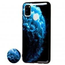 """Чехол для Samsung Galaxy M21 / M30s print + popsocket """"волна"""""""