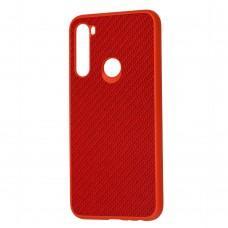 Чехол для Xiaomi Redmi Note 8 Carbon New красный