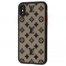 Чехол для iPhone Xs Max LikGus LV черный