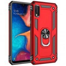 Чехол для Samsung Galaxy A02 (A022) Serge Ring ударопрочный красный