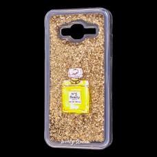 """Чехол для Samsung Galaxy J3 2016 (J320) вода золотистый """"духи"""""""