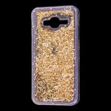 """Чехол для Samsung Galaxy J3 2016 (J320) вода золотистый """"пространство"""""""