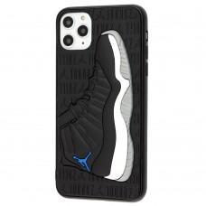 Чехол для iPhone 11 Pro Max Sneakers Brand jordan черный / серый