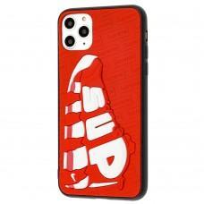 Чехол для iPhone 11 Pro Max Sneakers Brand sup красный / белый