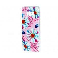Чехол для Samsung Galaxy S8+ (G955) с принтом розовый с ромашками