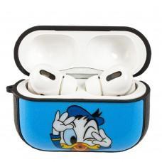 Чехол для AirPods Pro Young Style Donald Duck голубой дизайн 2