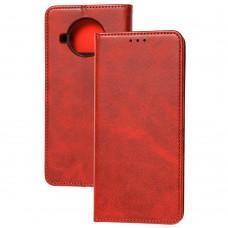 Чехол книжка для Xiaomi Mi 10T Lite Black magnet красный