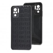 Чехол для Xiaomi Redmi Note 10 / 10s Leather case кроко