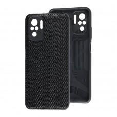 Чехол для Xiaomi Redmi Note 10 / 10s Leather case волна