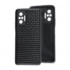 Чехол для Xiaomi Redmi Note 10 Pro Leather case плетенка