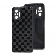 Чехол для Xiaomi Redmi Note 10 Pro Leather case куб