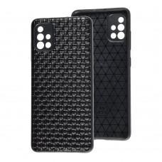 Чехол для Samsung Galaxy A51 (A515) Leather case плетенка