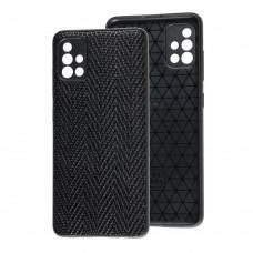 Чехол для Samsung Galaxy A51 (A515) Leather case волна