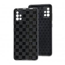 Чехол для Samsung Galaxy A51 (A515) Leather case куб