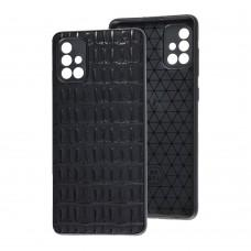 Чехол для Samsung Galaxy A71 (A715) Leather case кроко