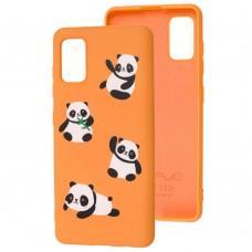 Чехол для Samsung Galaxy A41 (A415) Wave Fancy panda / peach