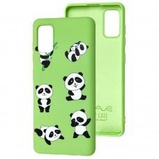 Чехол для Samsung Galaxy A41 (A415) Wave Fancy lovely panda / mint gum