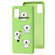 Чехол для Samsung Galaxy A41 (A415) Wave Fancy koala / mint gum
