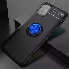 Чехол для Samsung Galaxy M31s (M317) Deen под магнитный держатель черный / синий