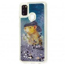 "Чехол для Samsung Galaxy M21 / M30s Блестки вода ""mouse ковбой"""