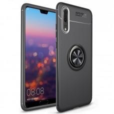 Чехол для Huawei P30 Deen ColorRing с кольцом черный
