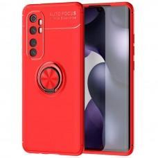Чехол для Xiaomi Mi Note 10 Lite Deen ColorRing с кольцом красный