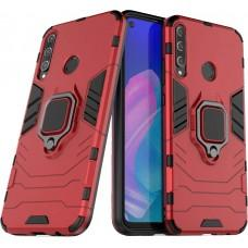 Чехол для Huawei P40 Lite E Transformer Ring ударопрочный с кольцом красный