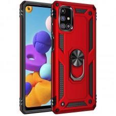 Чехол для Samsung Galaxy M51 (M515) Serge Ring ударопрочный красный