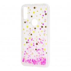 """Чехол для Xiaomi Mi Play Блестки вода """"бело-розовые звезды"""""""