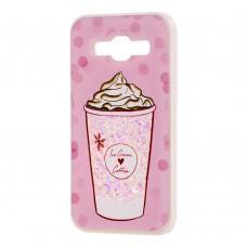 "Чехол для Samsung Galaxy J5 (J500) вода светло-розовый ""мороженое"""