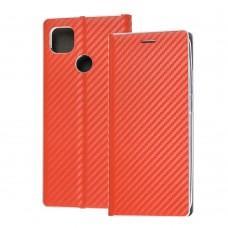 Чехол книжка для Xiaomi Redmi 9C Carbon book красный