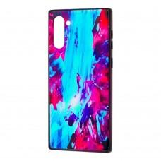 Чехол для Samsung Galaxy Note 10 (N970) Picasso синий