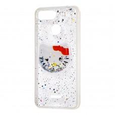 """Чехол для Xiaomi Redmi 6 жидкие блестки игрушка """"Kitty"""""""