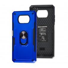 Чехол для Xiaomi Poco X3 SG Ring с кольцом синий