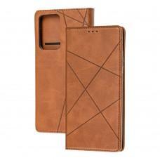 Чехол книжка Business Leather для Samsung Galaxy Note 20 Ultra (N986) коричневый