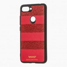 Чехол для Xiaomi Mi 8 Lite woto с блестками красный