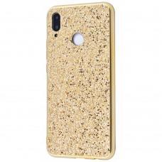 Чехол для Samsung Galaxy M20 (M205) Shining sparkles с блестками золотистый