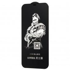 Защитное стекло для iPhone 12 Pro Max King Fire черное (OEM)