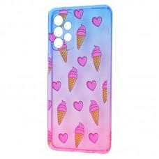 Чехол для Samsung Galaxy A52 Wave Sweet blue / pink / ice-cream