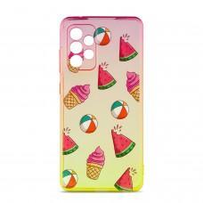 Чехол для Samsung Galaxy A52 Wave Sweet red/ yellow / watermelon