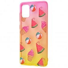 Чехол для Samsung Galaxy A71 (A715) Wave Sweet red/ yellow / watermelon