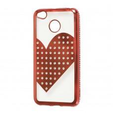 Чехол для Xiaomi Redmi 4x Kingxbar сердце красный